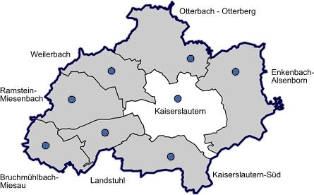 Bildergebnis für landkreis kaiserslautern karte